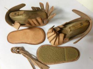 ベビーサンダル13号 完成までの工程 Iさんの靴作り