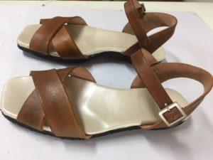 サンダルまだまだ続きます。M照子さんの靴作り