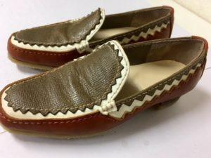 手の込んだデザインの靴です。Mみつ江さんの靴作り