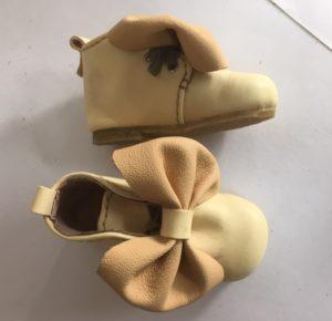 かわいい靴作り、ベビーの靴は手放したくない愛らしさ。亜希さんの靴作り。