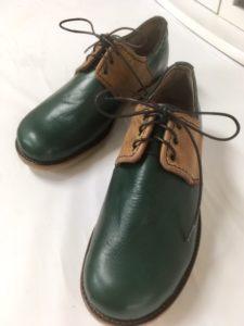 令和第2号はご主人のために作りました。章子さんの靴作り。